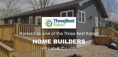Three best home builders norfolk county