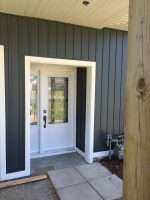 New siding and entrance