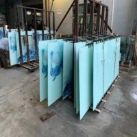 digital printed glass laminated glass