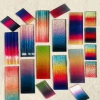 digital printed glass with multiple designs