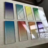 gradient color glass