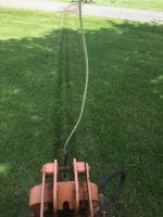 Non destructive line installation